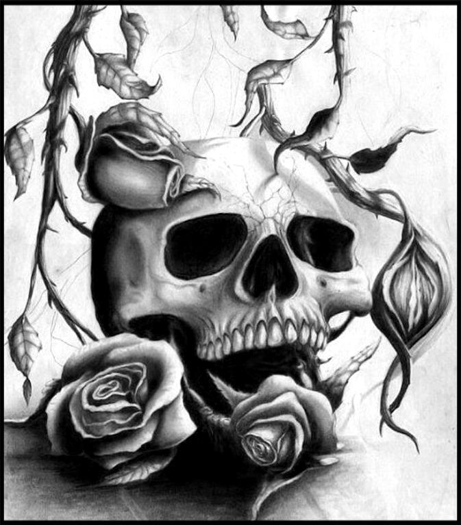 673x767 Pin By Skull Tastic On Skulls Amp Roses