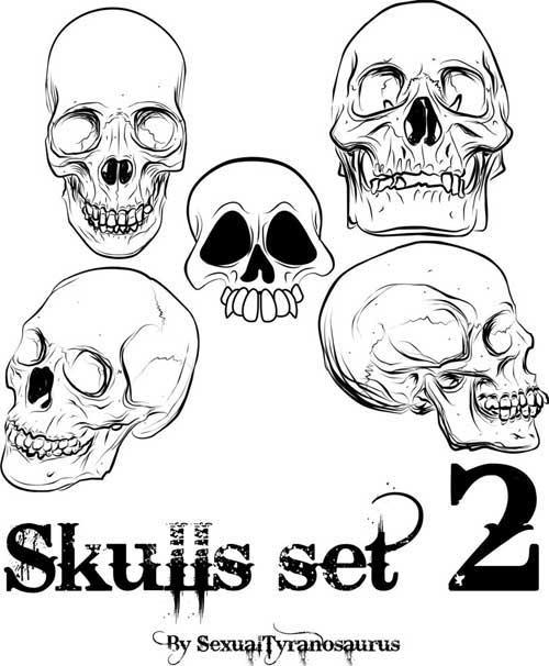 500x606 Skulls Clip Art 53 Free Vectors For Punk Designs