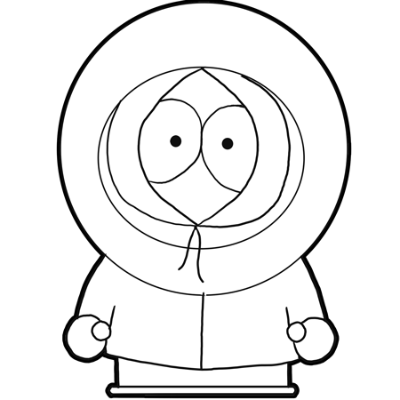 450x450 How To Draw Kenny From South Park With Easy Step By Step Drawing