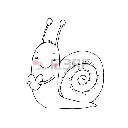 450x450 Illustration Snail Snail Sketch Stock Photos. Royalty Free