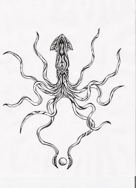 465x640 squid tattoo