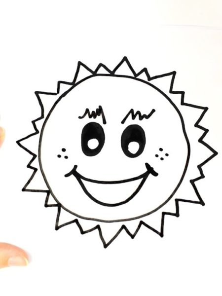 450x600 Sun Drawing, Pencil, Sketch, Colorful, Realistic Art Images