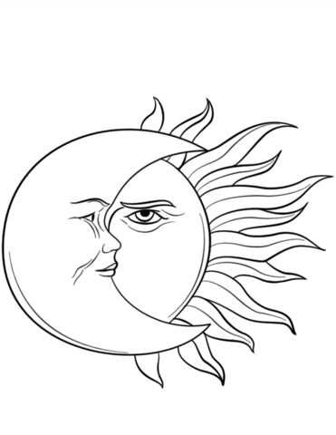 371x480 Sun And Moon Coloring Page Free Printable Coloring Pages