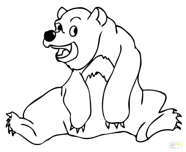 618x505 Bear Coloring Pages Preschool Bear Coloring Pages Preschool Free