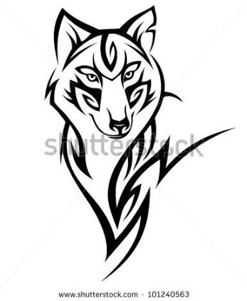 347x424 Image Result For Realistic Wolf Head Tattoo Tribal Drawings