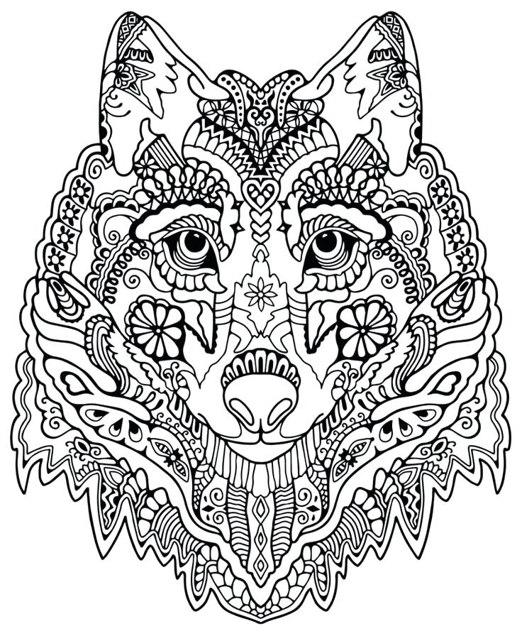 736x896 Wolf Pictures To Color Realistic Wolf Coloring Pages To Print