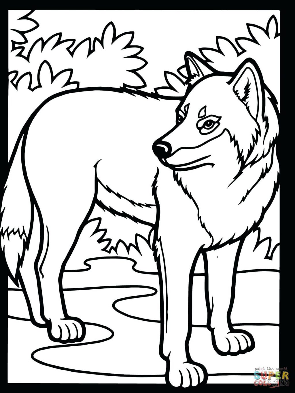 1024x1365 Coloring Pages ~ Wolf Coloring Pages Free Printable Wolf Coloring
