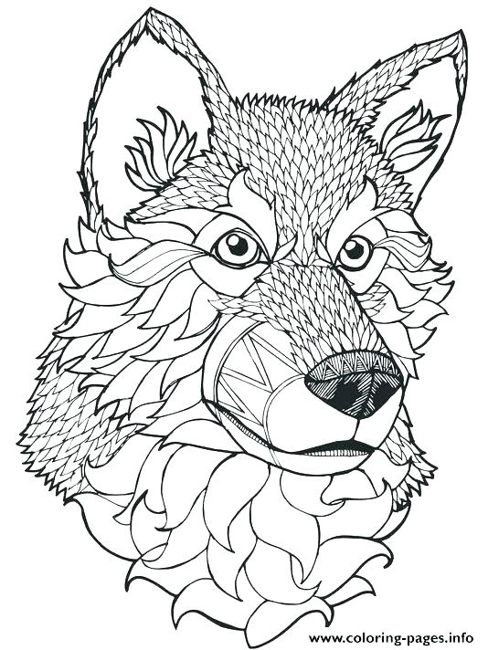 534x712 Elegant Coloring Pages Of Wolves And Wolf Mandala 25 Coloring
