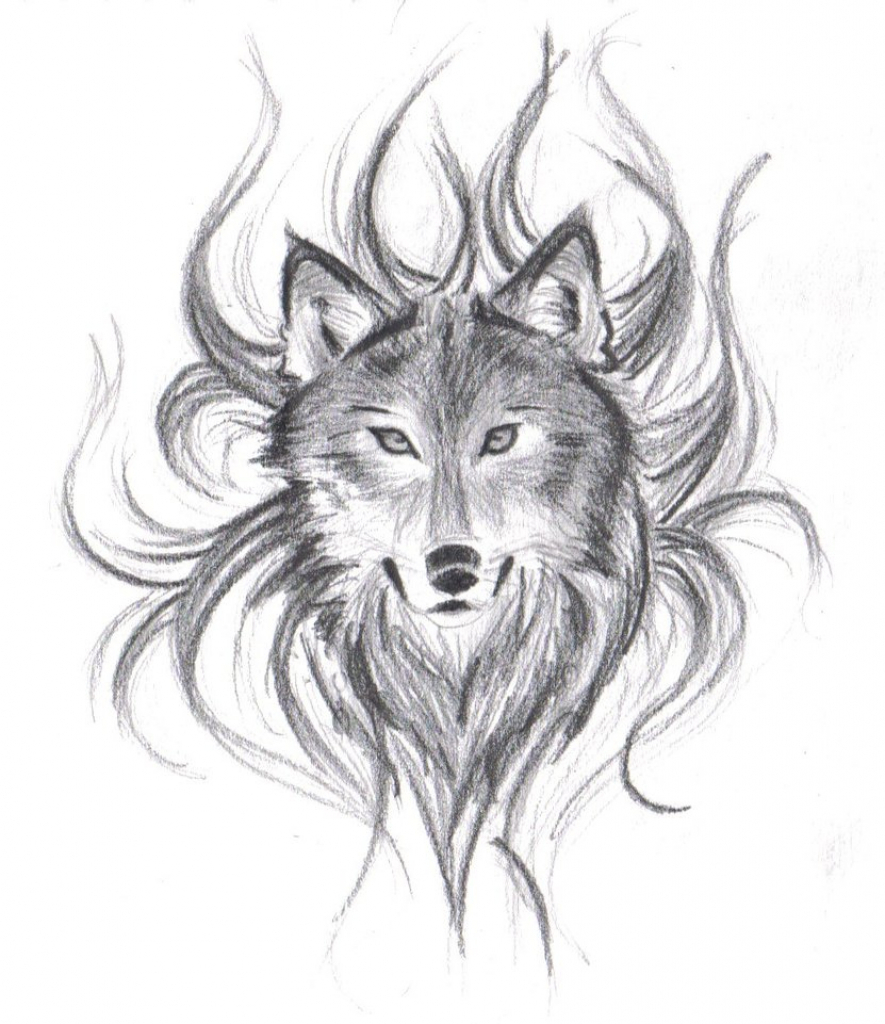 885x1024 Drawing Of A Wolf Face How To Draw An Easy Realistic Wolf Head