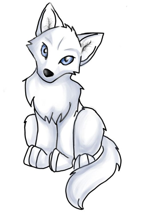 507x758 Anime Wolf Pup Easy