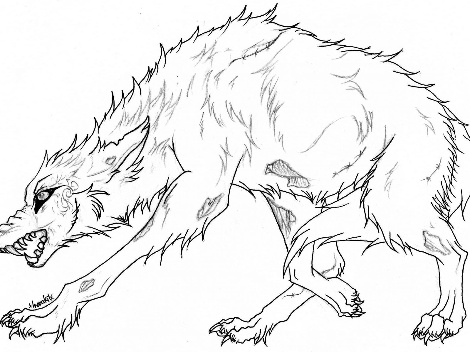1600x1200 Perfect Design Wolf Coloring Page Look Realistic Pages Free