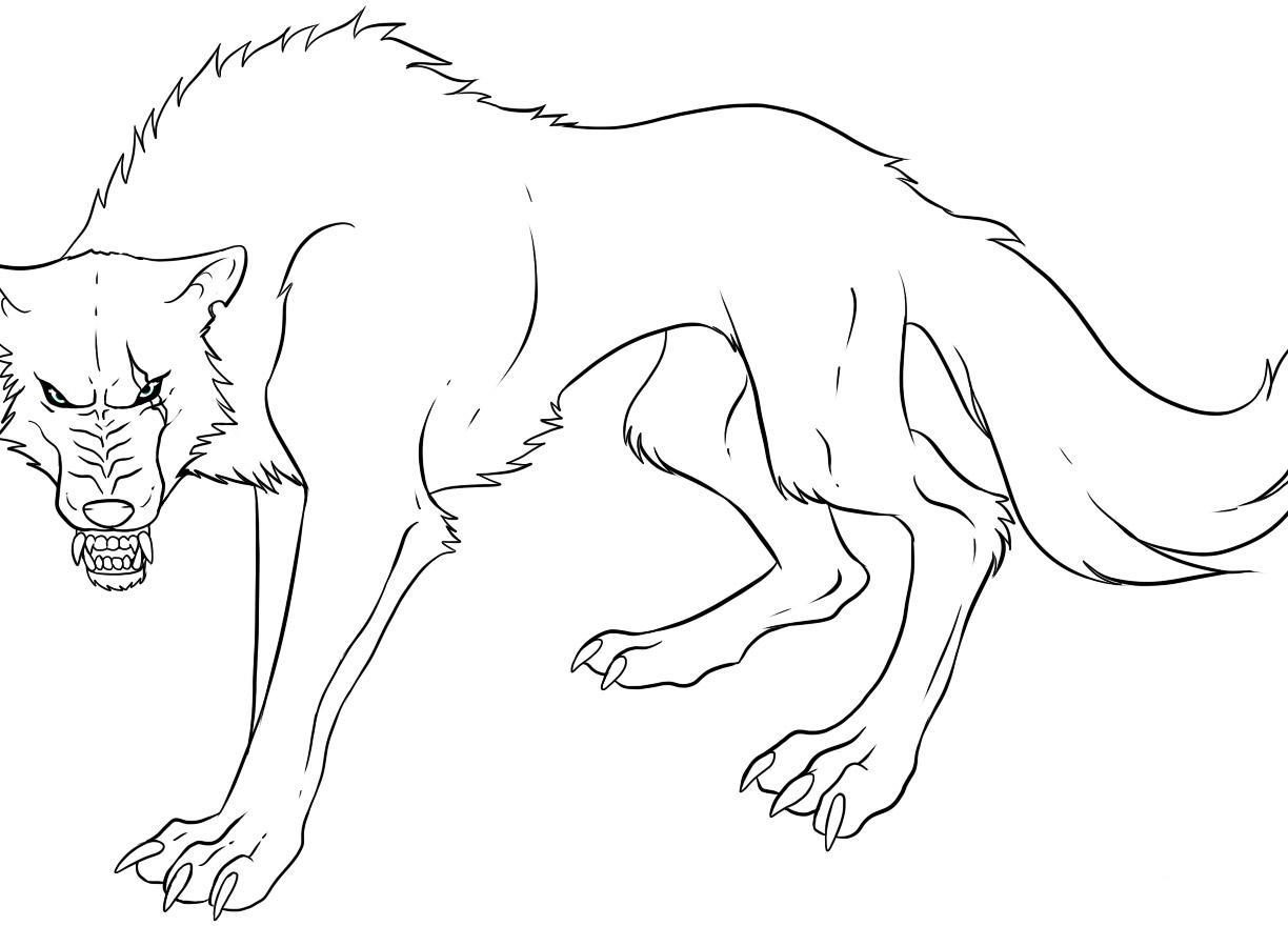 1224x880 Wolf Coloring Pages Realistic To Print Free Printable Animals