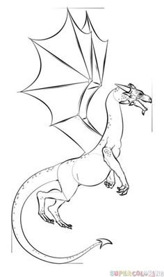 236x399 How To Draw A Realistic Dragon Step By Step. Drawing Tutorials