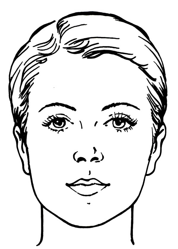 600x840 Download Girl Face Coloring Page