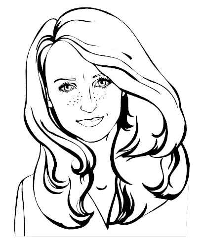 411x497 Girl Face Coloring Page Similiar Realistic Girl Face Coloring