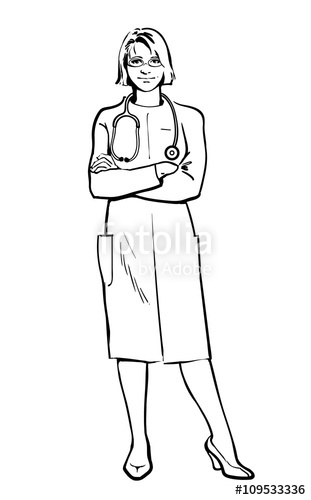 311x500 Realistic Physicians Upright. Should The Doctor A Young Girl. Man