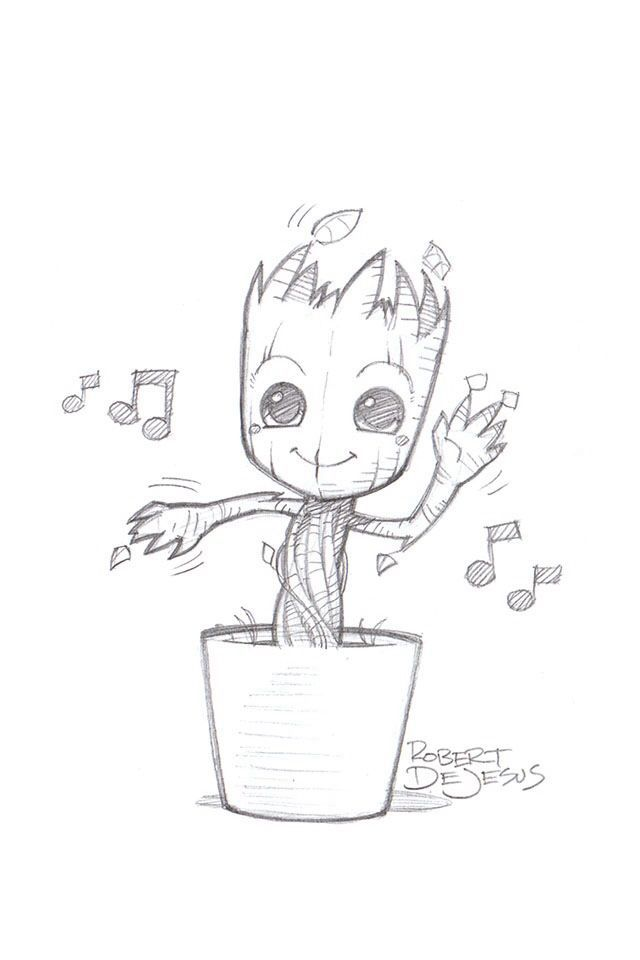 640x960 Image Result For Groot Drawings Ideas Hey Drawing