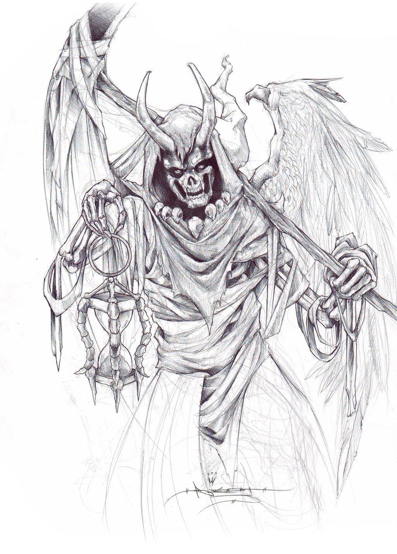 1024x1429 Clock Reaper By Itsbirdyart
