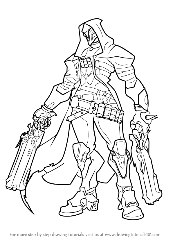 596x843 Learn How To Draw Reaper From Overwatch (Overwatch) Step By Step