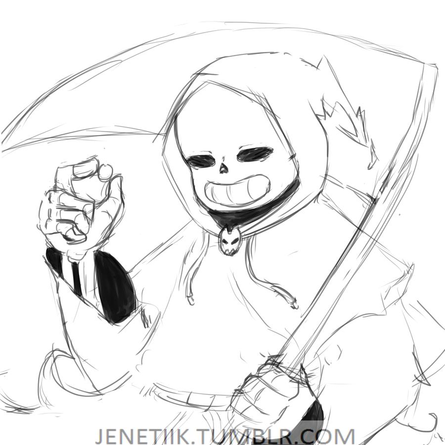 900x900 Reaper!sans Sketch By Jenetiik