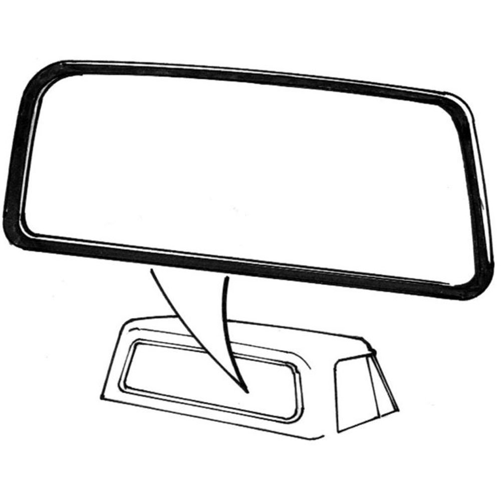 1000x1000 F 100 Weatherstrip Rear Window With Wide Groove For Chrome Trim