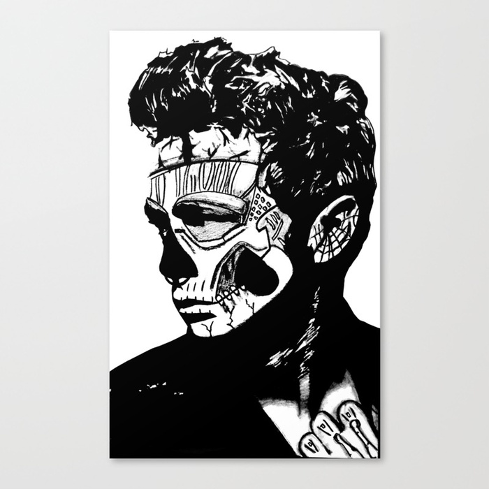 700x700 James Dean. Rebel Zombie. Canvas Print By 161926 Society6