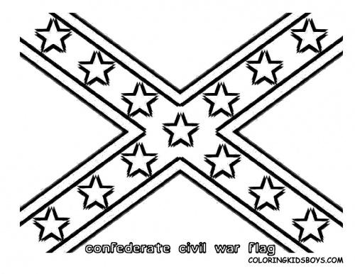 500x386 Rebel Flag Coloring Sheets