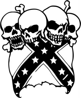 331x400 Rebel Flag Vinyl Decal Sticker 1