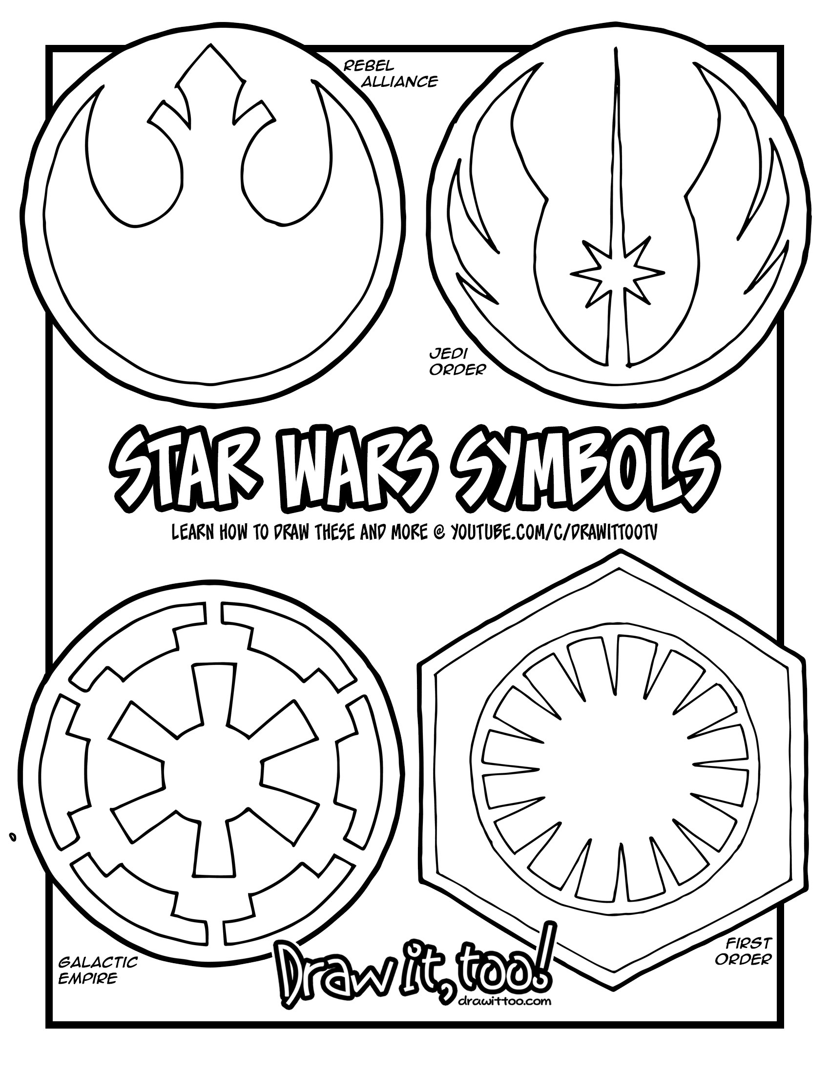 1700x2200 The Symbols In The Star Wars Movies