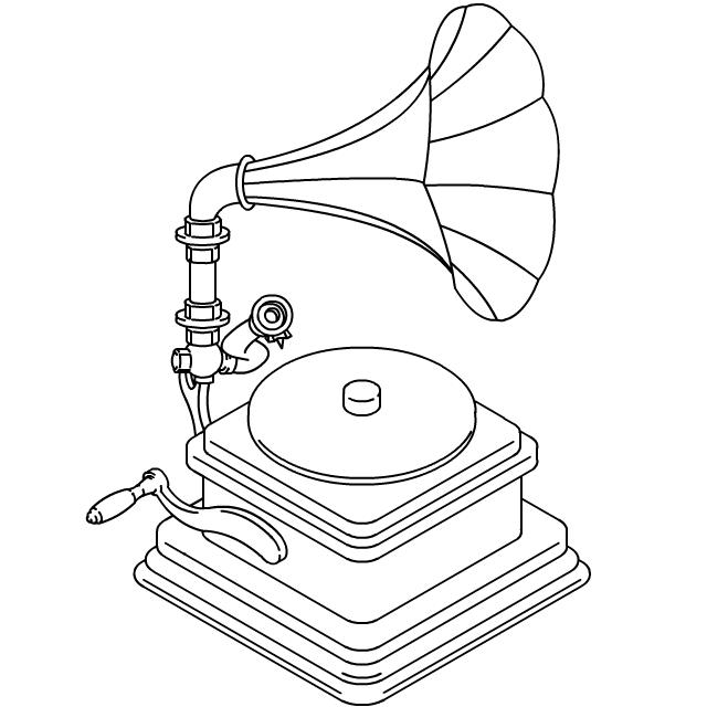 640x640 Antique Gramophone Record Player