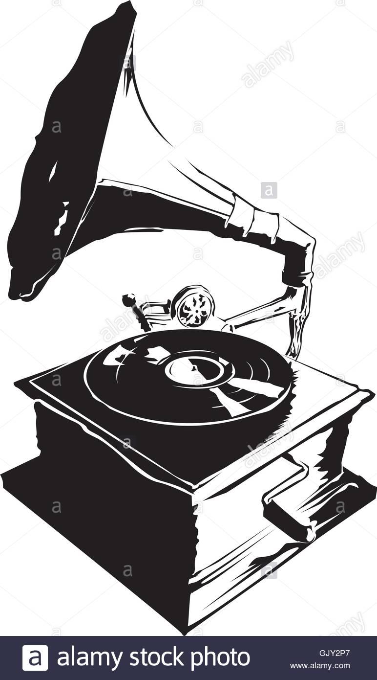 772x1390 Retro Record Player Stock Vector Art Amp Illustration, Vector Image