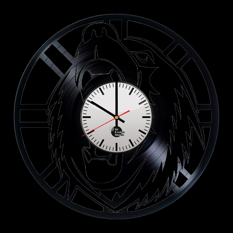 1500x1500 Boston Bruins Bear Logo Handmade Vinyl Record Wall Clock Fan Gift