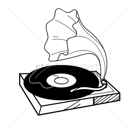 450x450 Free Vintage Record Player Stock Vectors Stockunlimited
