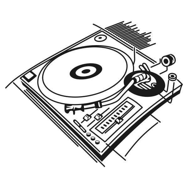 600x600 Record Player Turntable Cuttable Designs