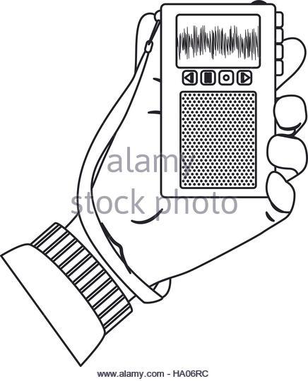 436x540 Recorder Device Icon Broadcasting Journalism Stock Photos