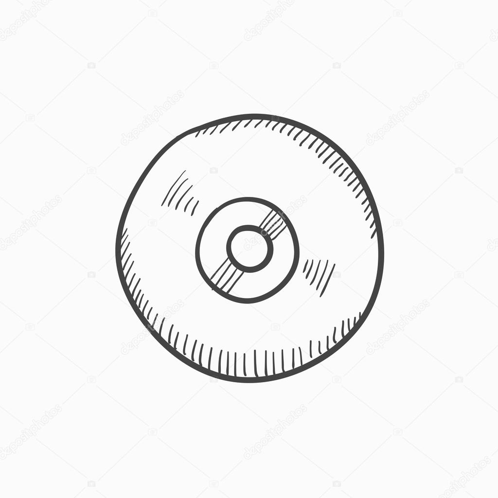 1024x1024 Reel Tape Deck Player Recorder Sketch Icon. Stock Vector