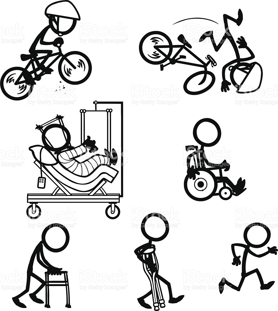 916x1024 Stick Figure People Bike Accident Recovery Vector Id165954419 (916