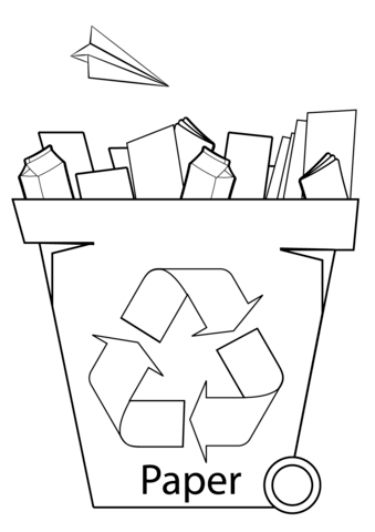 339x480 Paper Recycling Bin Coloring Page Free Printable Coloring Pages
