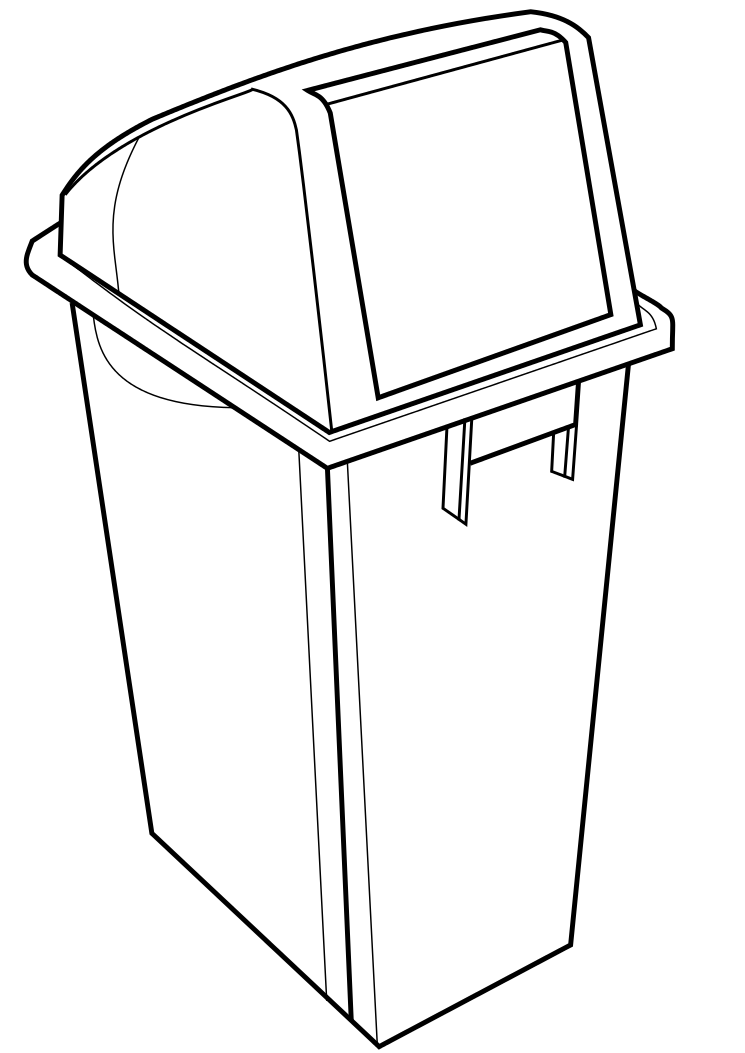 745x1053 Recycling Bin Template By Spiderlily Studio