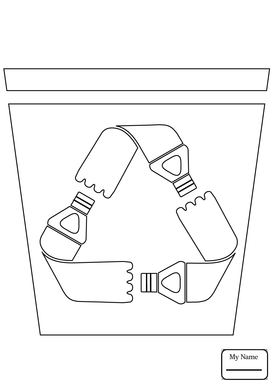 937x1326 Nature Seasons Paper Recycling Bin Coloring Pages