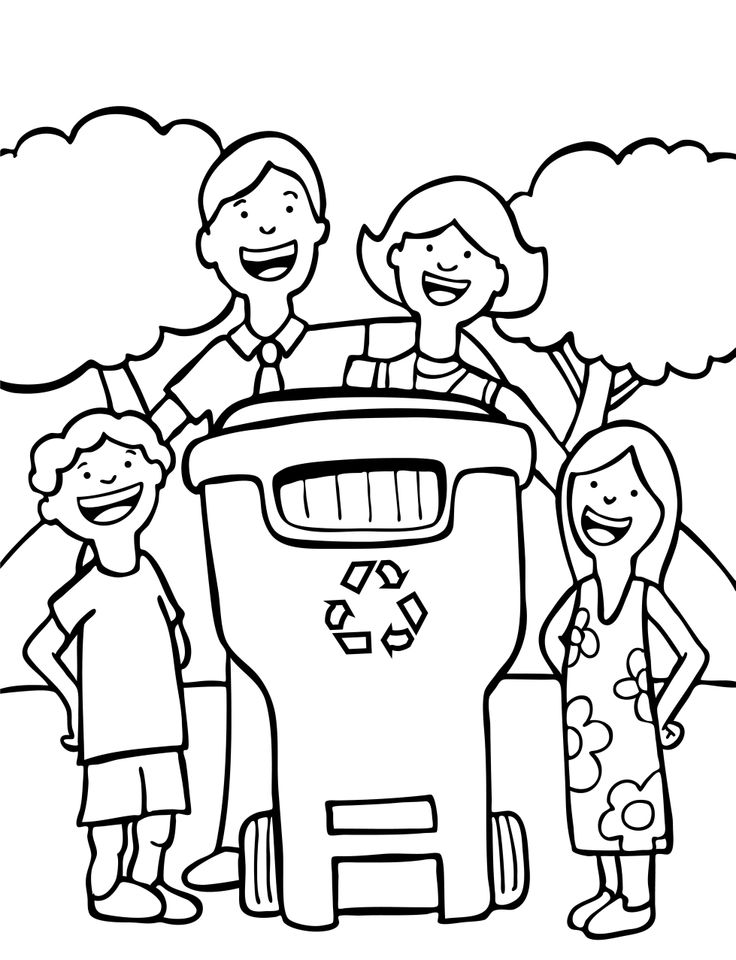 736x960 Recycle Coloring Page Recycling And Nature Pinterest