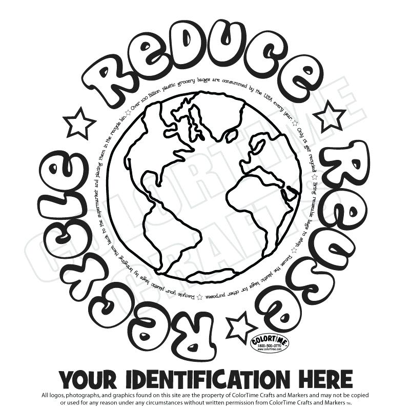 800x800 Recycle Coloring Pages Reduce Reuse