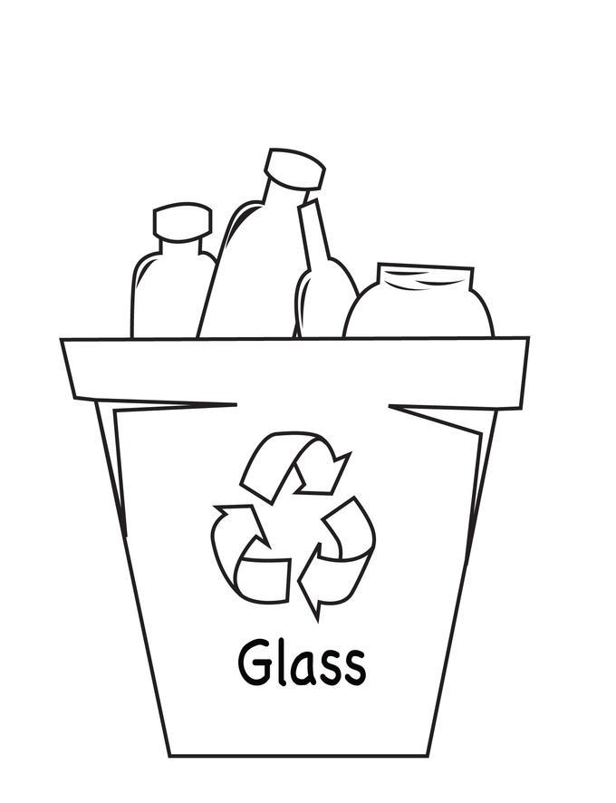 680x886 Recycle Glass Coloring Pages
