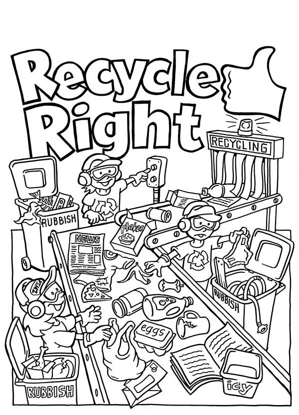 600x832 Recycle Right Coloring Page Coloring Sky