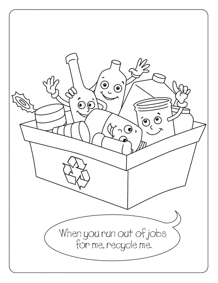 720x932 Recycling 815x630 Coloring Page