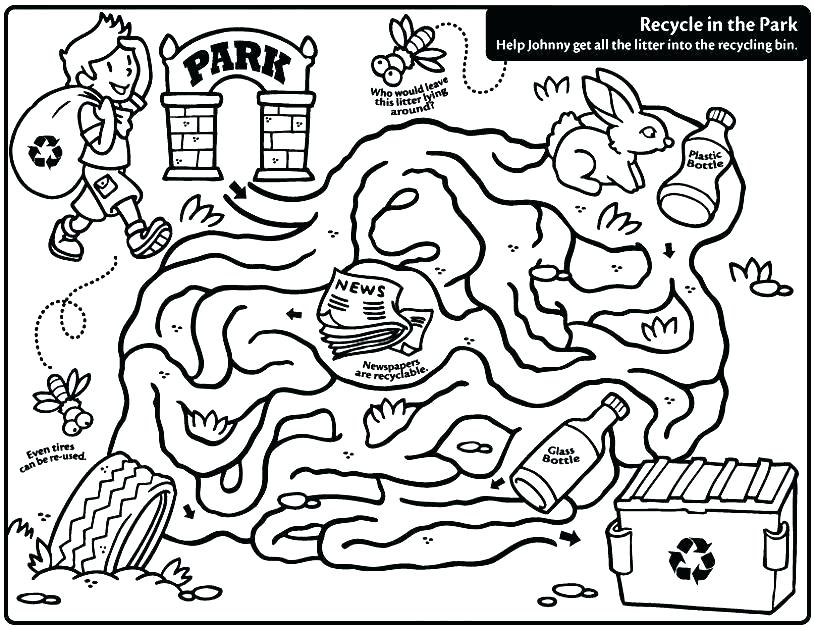 815x630 Recycling Coloring Page Recycling Coloring Recycle Coloring Pages