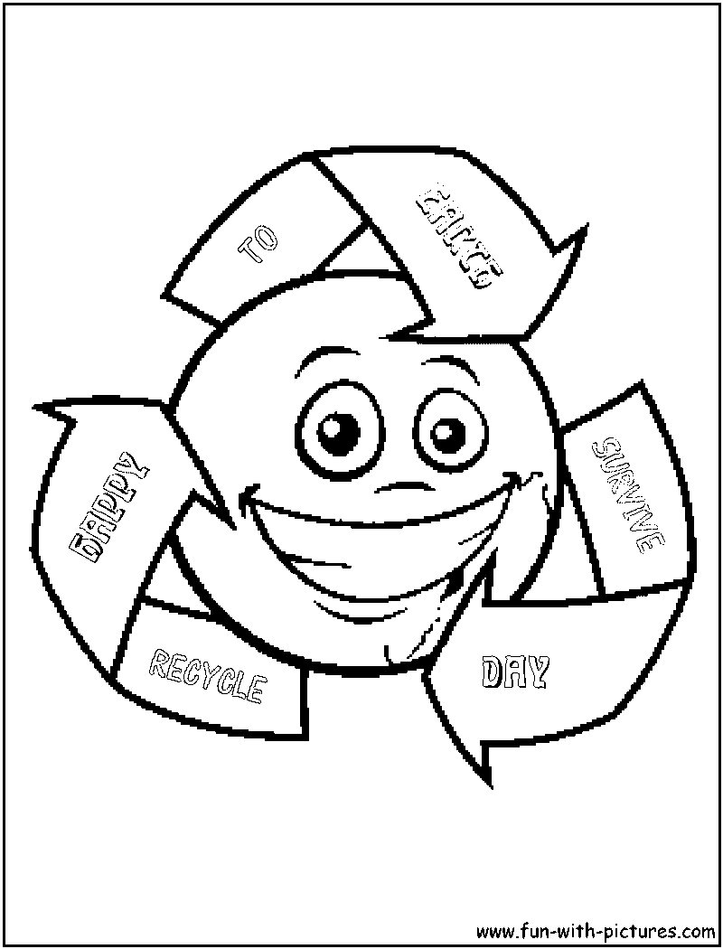 It's just a graphic of Dramatic Recyling Coloring Pages