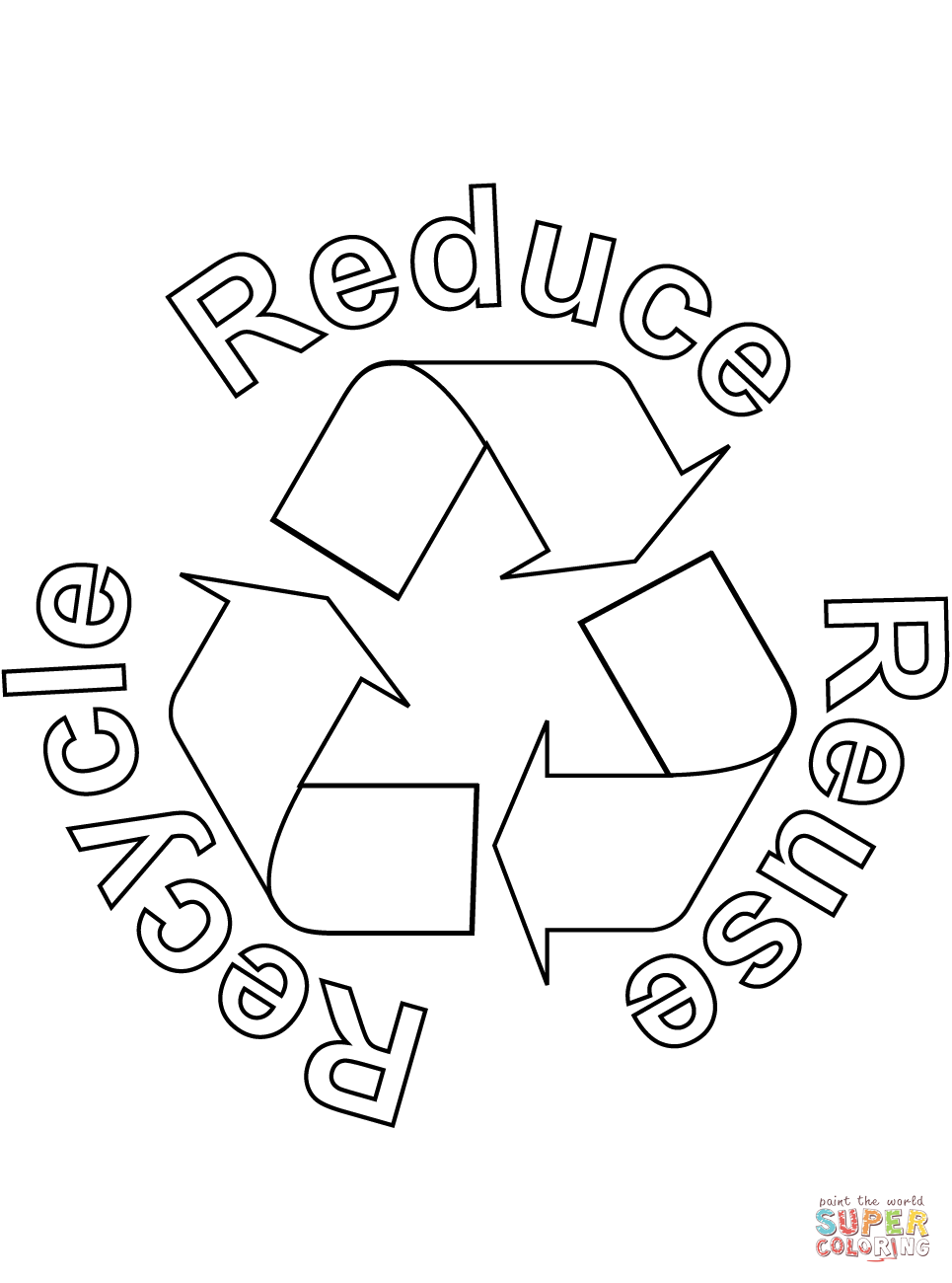965x1300 Reduce, Reuse, Recycle Coloring Page Free Printable Coloring Pages