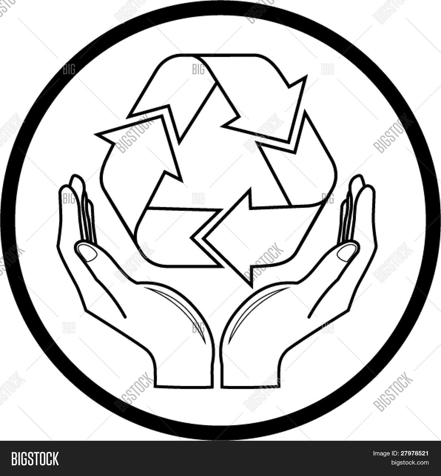 1500x1620 Vector Recycle Symbol Hands Icon. Vector Amp Photo Bigstock