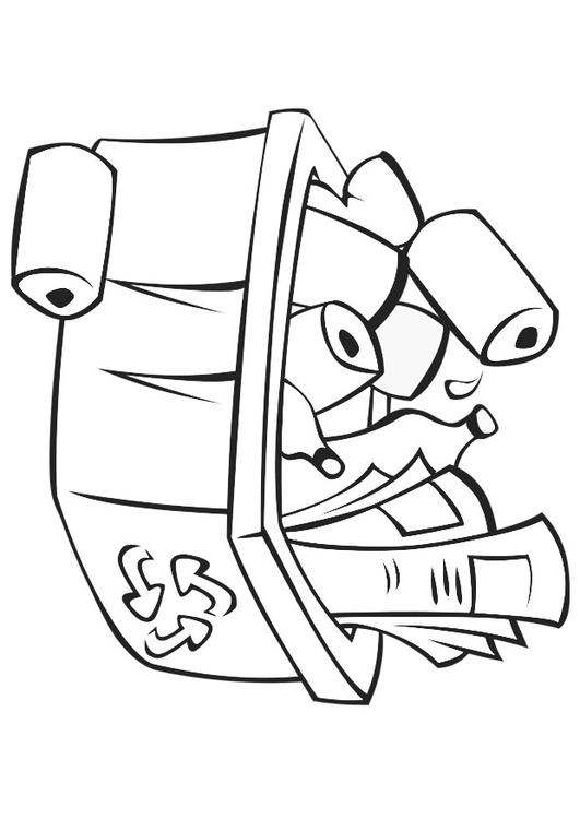 531x750 Coloring Page Recycle